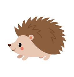 Adorable hedgehog in modern flat style vector