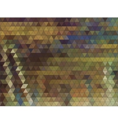 Autumn colorful background made of triangles vector image