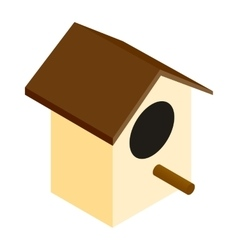 Birdhouse isometric 3d icon vector