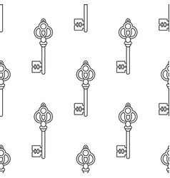 black and white seamless pattern with vintage old vector image vector image