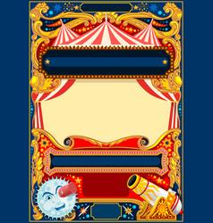 Circus frame template vector