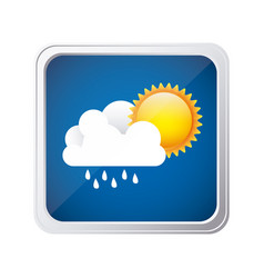 color square frame and blue background with cloud vector image vector image