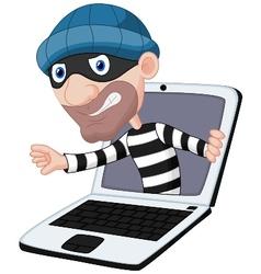 Computer crime cartoon vector
