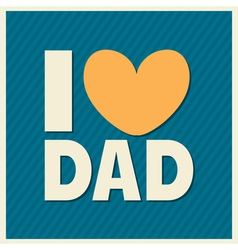 Fathers day retro style design greeting card vector