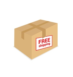 free shipping on the box vector image