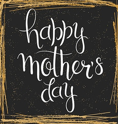 hand drawn mothers day lettering In a squared vector image vector image