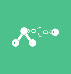 Icon atom and broken chain vector