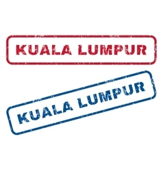 Kuala lumpur rubber stamps vector