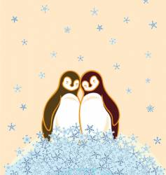lovely penguins vector image