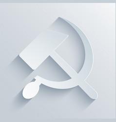 Modern sickle and hammer symbol background vector