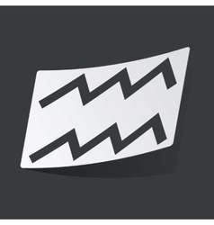 Monochrome aquarius sticker vector