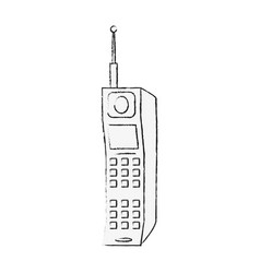 old cellphone technology vector image vector image