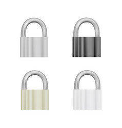 Pad lock in on white background vector