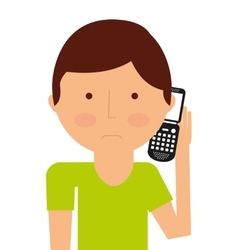 person calling isolated icon design vector image