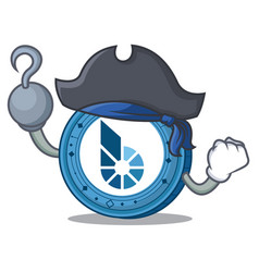 Pirate bitshares coin character cartoon vector