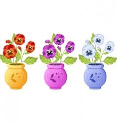 pot plant vector image