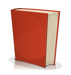 Red book cover isolated on white vector