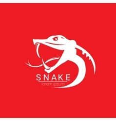 snake simple logo design element vector image vector image
