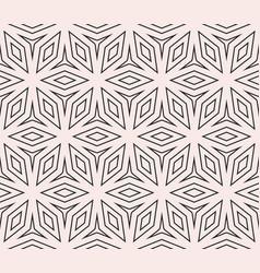 Subtle seamless ornament pattern thin geometric vector
