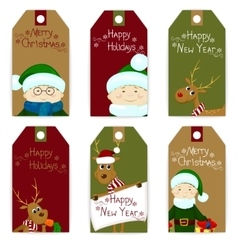 tag christmas set vector image vector image