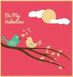 Valentine love birds vector
