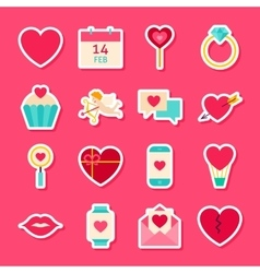 Valentines day love stickers vector