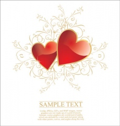 Valentine's heart vector image vector image