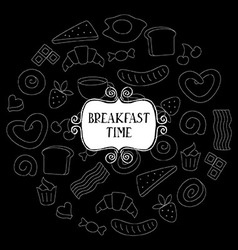 Vintage poster - breakfast vector