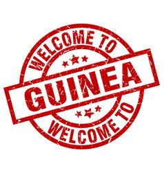 Welcome to guinea red stamp vector