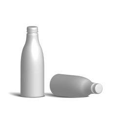 White realistic plastic bottle vector
