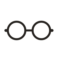 Glasses nerd isolated icon vector
