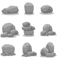 Rock element art vector