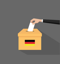 German election vote concept with vector