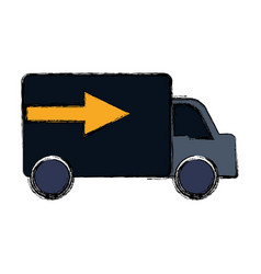 Delivery truck vehicle vector