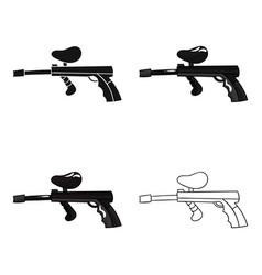 paintball gun icon in cartoon style isolated on vector image