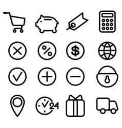 Set of icons for site vector