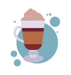 Coffee glass latte vector