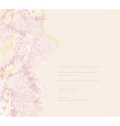 Romantic flower background card vector