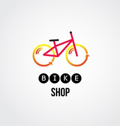 bike logo design vector image