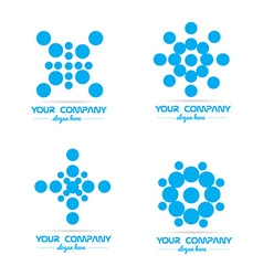 Blue circle bubble logo vector