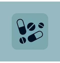 Pale blue medicine icon vector