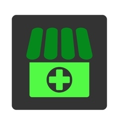 Clinic flat button vector