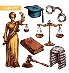 Decorative law set vector