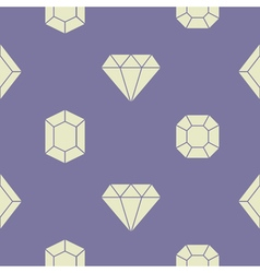 Seamless pattern with diamond icons vector