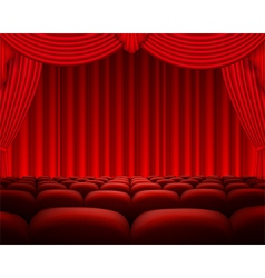 Cinema or theater scene background vector