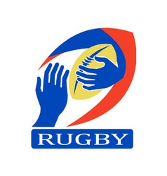 Rugby logo icon vector