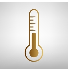 Thermometer sign flat style icon vector