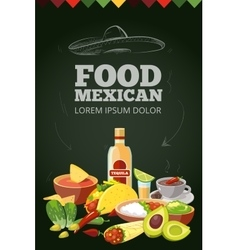Mexican traditional food vector