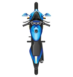 A topview of a blue scooter vector