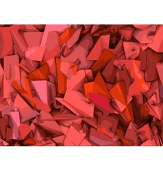 Abstract shape backdrop pattern in pink and red vector